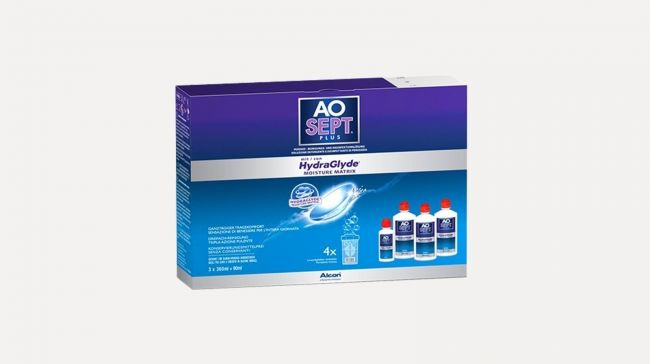 AOSEPT PLUS HYDRAGLYDE PACK 3 X 360 ML  PLUS 90 ML